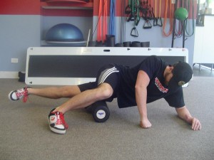 IT band foam rolling