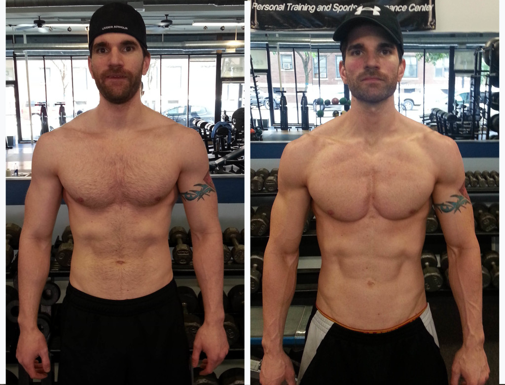 On the left, taken one day after starting prep. On the right, taken 3 days before the shoot.