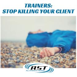 excessive training