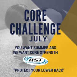All Strength Training Core Challenge July